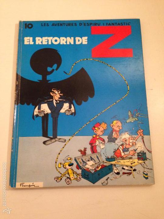 SPIROU CATALÁ Nº 10. EL RETORN DE Z. JAIMES LIBROS 1972. (Tebeos y Comics - Grijalbo - Spirou)