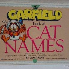 Cómics: GARFIELD BOOK OF CAT NAMES EN INGLES. Lote 60956587