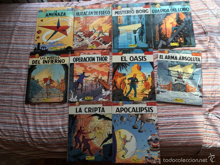 LEFRANC LOTE COLECCION COMPLETA Nº 1, 2, 3, 4, 5, 6, 7, 8, 9 Y 10 (GRIJALBO JUNIOR) (COIM14) (Tebeos y Comics - Grijalbo - Lefranc)