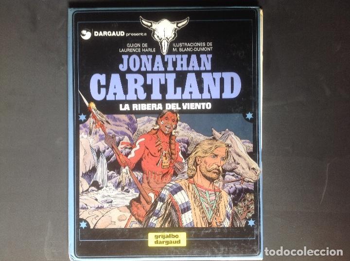 JONATHAN CARTLAND LA RIBERA DEL VIENTO 1985 MUY BIEN CONSERVADO (Tebeos y Comics - Grijalbo - Otros)
