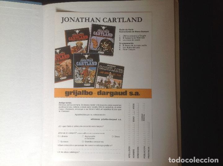 Cómics: Jonathan Cartland La ribera del viento 1985 muy bien conservado - Foto 4 - 66875178