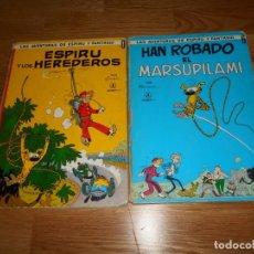 Comics: FRANQUIN. ESPIRU Y LOS HEREDEROS Y HAN ROBADO EL MARSUPILAMI JAIMES LIBROS1968. Nº 0 TAPA DURA.. Lote 67202409