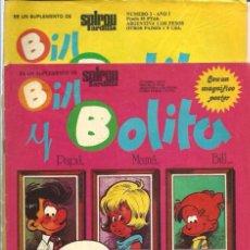 Cómics: BILL Y BOLITA, SUPLEMENTO DE SPIROU ARDILLA - LOTE CON LOS Nº 1, 3, 4 Y 5 - SUFRIDOS - VER DESCRIP.. Lote 67206001