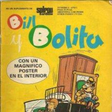 Cómics: BILL Y BOLITA Nº 3 - SUPLEMENTO DE SPIROU ARDILLA - SEPP MUNDIS 1979 - VER DESCRIPCION. Lote 67206589