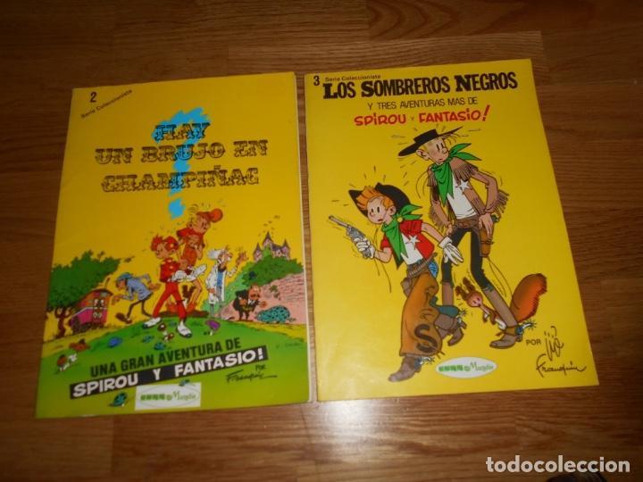 LOS SOMBREROS NEGROS Y HAY UN BRUJO EN CHAMPIÑAC SERIE COLECCIONISTA 3 FRANQUIN SEPP MUNDIS RUSTICA (Tebeos y Comics - Grijalbo - Spirou)