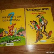 Cómics: LOS SOMBREROS NEGROS Y HAY UN BRUJO EN CHAMPIÑAC SERIE COLECCIONISTA 3 FRANQUIN SEPP MUNDIS RUSTICA. Lote 67227861