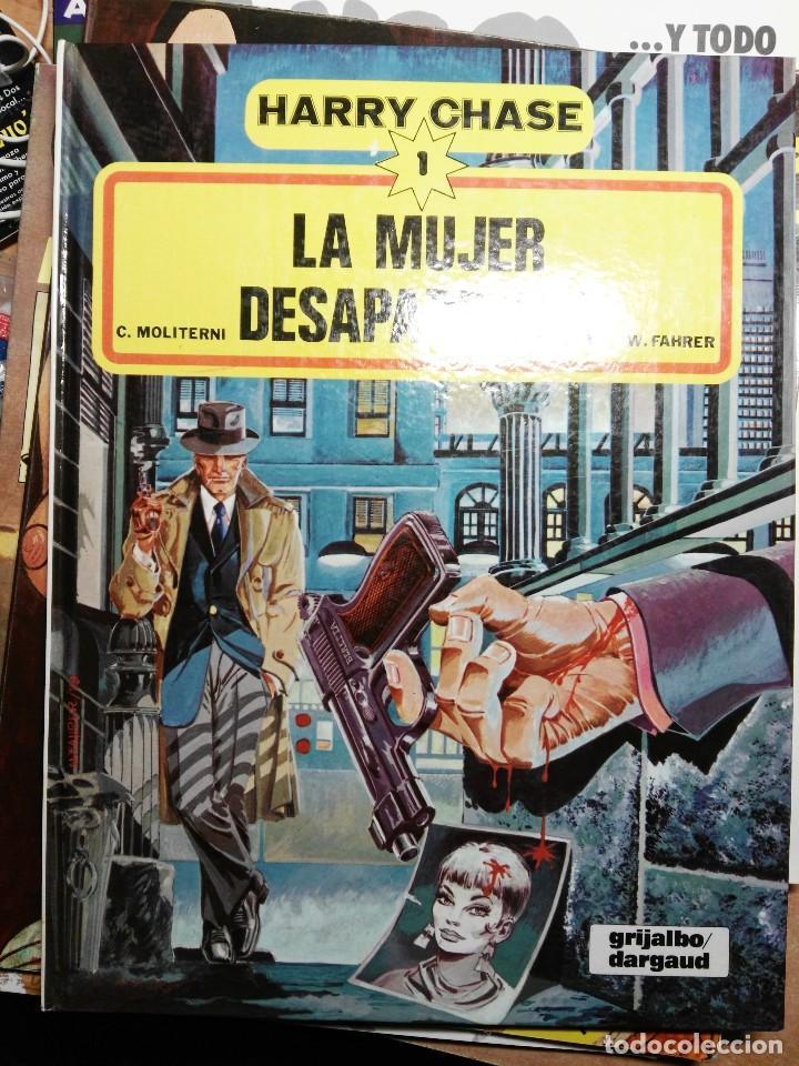 HARRY CHASE 1 - LA MUJER DESAPARECIDA - C. MOLITERNI, W. FAHRER - TAPA DURA GRIJALBO DARGAUD (Tebeos y Comics - Grijalbo - Otros)