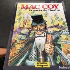 Cómics: MAC COY Nº 19 LA CARTA DE HUALCO (GRIJALBO / DARGAUD ) TAPA DURA 1995 (COIB19). Lote 70576533