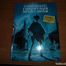 Cómics: EL HOMBRE QUE MATÓ A LUCKY LUKE. HOMENAJE DE MATTHIEU BONHOMME A MORRIS - TAPA DURA KRAKEN . Lote 71128309