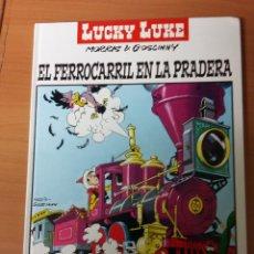Cómics: LUCKY LUKE EL FERROCARRIL EN LA PRADERA (TAPA DURA). Lote 72692147