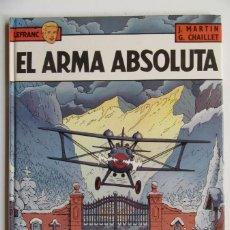 Cómics: LEFRANC Nº 8 EL ARMA ABSOLUTA - MARTIN Y CHAILLET - GRIJALBO - TAPA DURA - BUEN ESTADO. Lote 75122699