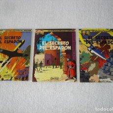 Cómics: LAS AVENTURAS DE BLAKE Y MORTIMER: 3 TOMOS (COMPLETA) - EL SECRETO DEL ESPADON - 1987, GRIJALBO. Lote 78045345