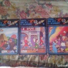 Cómics: LOTE DE 3 COMIC ERASE UNA VEZ EL HOMBRE - NUMEROS 8, 9 Y 11 (GRIJALBO). Lote 80031769