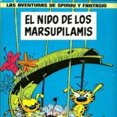 Cómics: FRANQUIN - SPIROU Nº 10 - EL NIDO DE LOS MARSUPILAMIS - ED. JUNIOR 1982 1ª ED., LOMO AMARILLO, BIEN. Lote 81573524