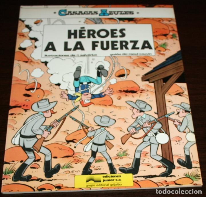 CASACAS AZULES - HÉROES A LA FUERZA - SALVÉRIUS / CAUVIN - EDICIONES JUNIOR - 1984 (Tebeos y Comics - Grijalbo - Otros)