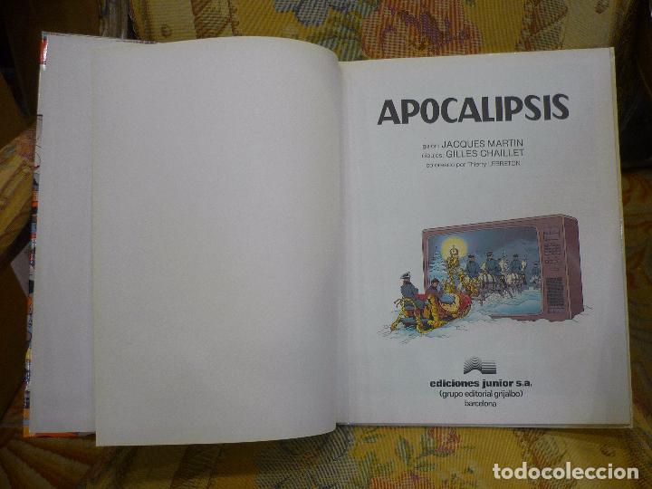 Cómics: APOCALIPSIS, DE JACQUES MARTIN Y GILLES CHAILLET. LEFRANC Nº 10, 1ª EDICIÓN 1.989. - Foto 3 - 84576932