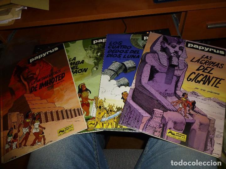 PAPYRUS, LOS NUMEROS 4 - 6 - 8 - 9 LAS LAGRIMAS DEL GIGANTE, IMPECABLES DE CONSERVACION (Tebeos y Comics - Grijalbo - Papyrus)