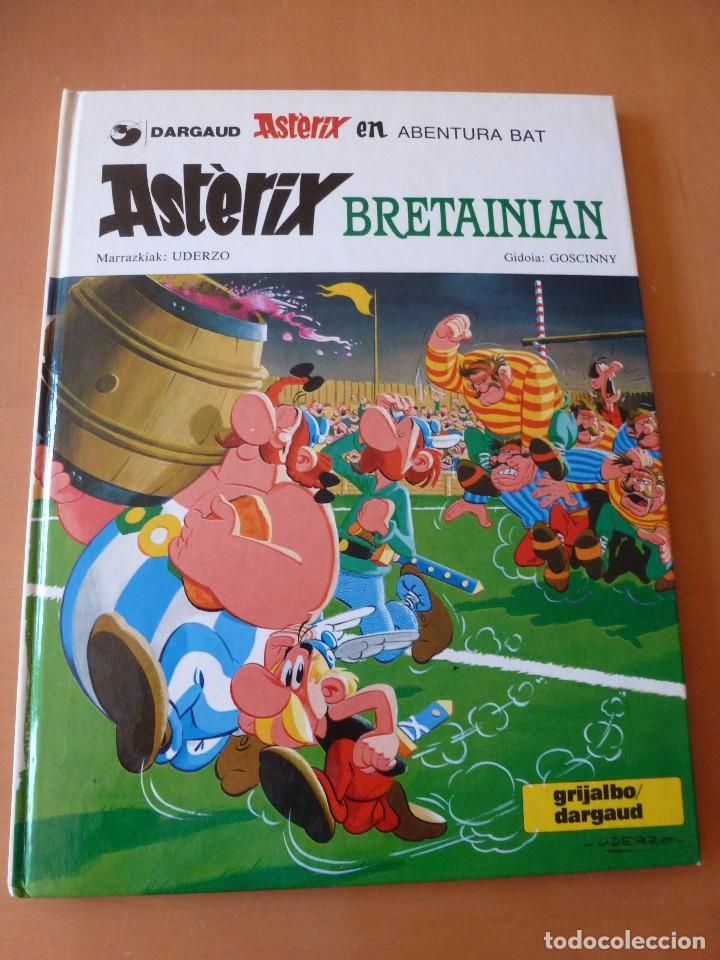ASTÉRIX EN BRETAÑA. EN EUSKERA. TAPAS DURAS. ELKAR 1990. MAGNÍFICO ESTADO (Tebeos y Comics - Grijalbo - Asterix)