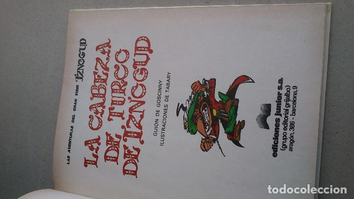 Cómics: LA CABEZA DE TURCO DE IZNOGUD - GOSCINNY - TABARY - GRIJALBO DARGAUD - Nº 6 EDICIONES JUNIOR - 1979 - Foto 3 - 86770296