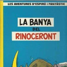 Cómics: LES AVENTURES D´ESPIRÚ I FANTÂSTIC 4: LA BANYA DEL RINOCETONT, 1988, IMPECABLE.. Lote 88085520