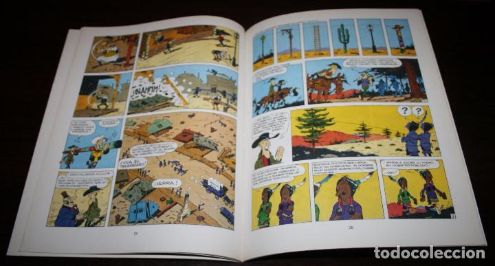 Cómics: LUCKY LUKE - EL HILO QUE CANTA - MORRIS/GOSCINNY - GRIJALBO/DARGAUD - 1985 - Foto 3 - 89464960