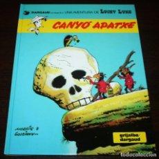 Cómics: LUCKY LUKE - CANYÓ APATXE - MORRIS/GOSCINNY - GRIJALBO/DARGAUD - 1992 - EN CATALÁN. Lote 89465080