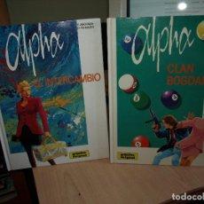 Cómics: ALPHA - NÚMEROS 1 Y 2 - TAPA DURA - GRIJALBO. Lote 89692660
