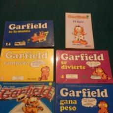 Cómics: GARFIELD - LOTE DE 6 COMICS DE JIM DAVIS - Nº 1 + 2 + 4 + 5 + AQUÍ LLEGA GARFIELD . Lote 90269708