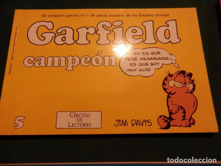 Cómics: GARFIELD - LOTE DE 6 COMICS DE JIM DAVIS - Nº 1 + 2 + 4 + 5 + AQUÍ LLEGA GARFIELD - Foto 5 - 90269708