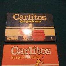 Cómics: CARLITOS - Nº 1 + 5 - LOTE 2 COMICS DE SCHULZ - EDICIONES JUNIOR/GRIJALBO (PEANUTS-SNOOPY). Lote 90283660