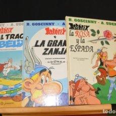 Cómics: 3 COMICS DE ASTERIX Y OBELIX EL MAL TRAGO, LA GRAN ZANJA, LA ROSA Y LA ESPADA GOSCINNY UDERZO. Lote 93174955
