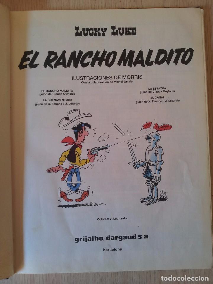 Cómics: LUCKY LUKE - EL RANCHO MALDITO - Nº 47 - GRIJALBO 1992 - Foto 3 - 94391026