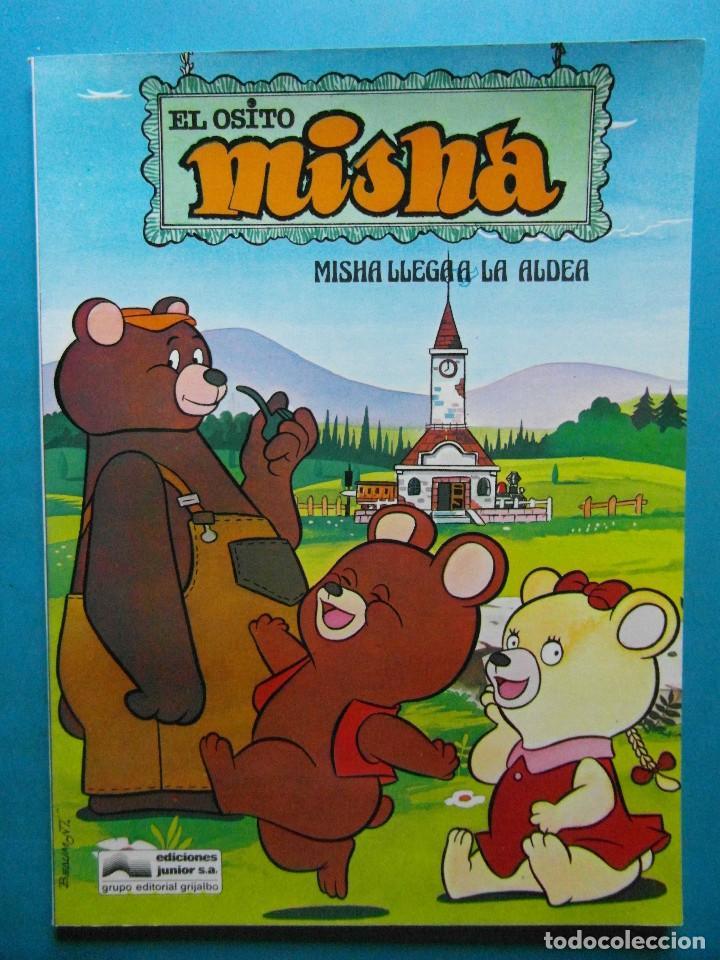 EL OSITO MISHA. MISHA LLEGA A LA ALDEA. EDICIONES JUNIOR GRIJALBO 1980.CAJA DE AHORROS DE TARRAGONA (Tebeos y Comics - Grijalbo - Otros)
