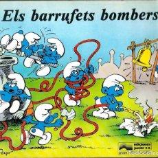 Cómics: PEYO - ELS BARRUFETS BOMBERS - ED. JUNIOR 1982 - LLIBRE IL·LUSTRAT - MOLT RAR - UNIC A TODOCOLECCION. Lote 95298907