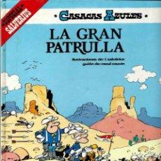 Cómics: CASACAS AZULES Nº 3 - ESPECIAL SALVERIUS - LA GRAN PATRULLA - ED. JUNIOR 1985 - TAPA DURA - BIEN. Lote 95308107