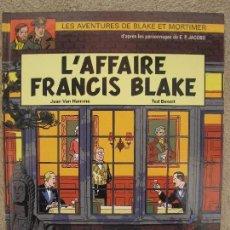 Cómics: L'AFFAIRE FRANCIS BLAKE - BLAKE ET MORTIMER Nº 13 - JEAN VAN HAMME - TED BENOIT - EN FRANCÉS - 2005.. Lote 95336755