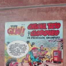 Cómics: TOPE GUAY NÚMERO 24 FRANCISCO IBÁÑEZ CHICHO, TATO Y CLODOVEO DE PROFESIÓN SIN EMPLEO 1989. Lote 95858059