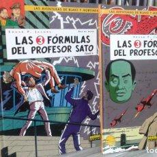 Cómics: LAS AVENTURAS DE BLAKE Y MORTIMER,EDGAR P. JACOBS,LAS 3 FORMULAS DEL PROFESOR SATO ,TOMOS 1 Y 2,NORM. Lote 96099455