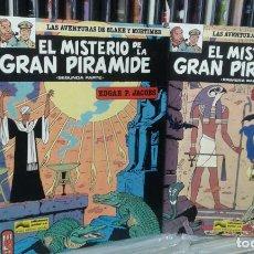 Cómics: LAS AVENTURAS DE BLAKE Y MORTIMER,EDGAR P. JACOBS,EL MISTERIO DE LA GRAN PIRAMIDE,TOMOS 1 Y 2. Lote 96099603