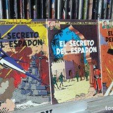 Cómics: LAS AVENTURAS DE BLAKE Y MORTIMER,EDGAR P. JACOBS,EL SECRETO DEL ESPADON,TOMOS 1,2 Y 3. Lote 96099759
