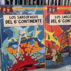 Cómics: LAS AVENTURAS DE BLAKE Y MORTIMER - LOS SARCOFAGOS DEL 6º CONTINENTE -TOMOS 1 Y 2 - NORMA. Lote 96167715