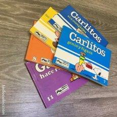 Cómics: LOTE CARLITOS Y GARFIELD - JUNIOR - 1987 (9 COMICS). Lote 96623123