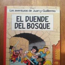 Cómics: EL DUENDE DEL BOSQUE, LAS AVENTURAS DE JUAN Y GUILLERMO 3, PEYO, EDICIONES JUNIOR GRIJALBO, 1986. Lote 97332467