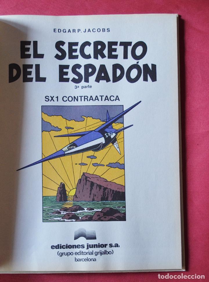Cómics: EL SECRETO DEL ESPADON - 3ª PARTE - LAS AVENTURA DE BLAKE Y MORTIMER - ED. JUNIOR GRAJALBO - 1987 - Foto 2 - 97369111