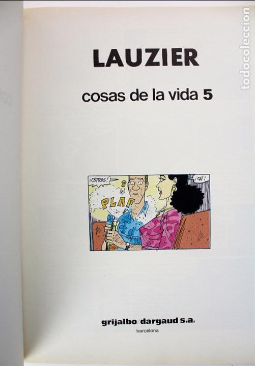 Cómics: COM-186. . LAUZIER. COSAS DE LA VIDA 5. GRIJALBO DARGAUD. AÑO 1987. NUMERO 7. - Foto 2 - 97773527