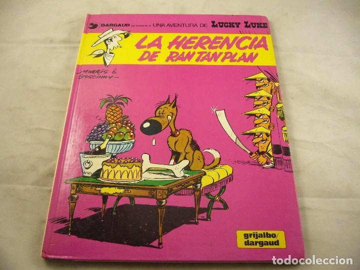 LIBRO LUCKIE LUKE TAPA DURA. LA HERENCIA DE RANTAN PLAN (Tebeos y Comics - Grijalbo - Lucky Luke)