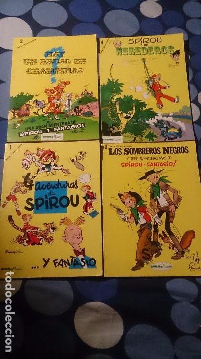 LOTE DE LOS 4 PRIMEROS COMICS DE SPIROU EDITORIAL MUNDIS (Tebeos y Comics - Grijalbo - Spirou)