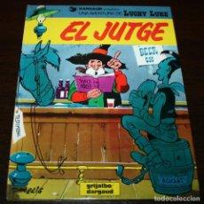 Cómics: LUCKY LUKE - EL JUTGE - MORRIS/GOSCINNY - GRIJALBO/DARGAUD - 1988 - EN CATALÁN. Lote 99224211
