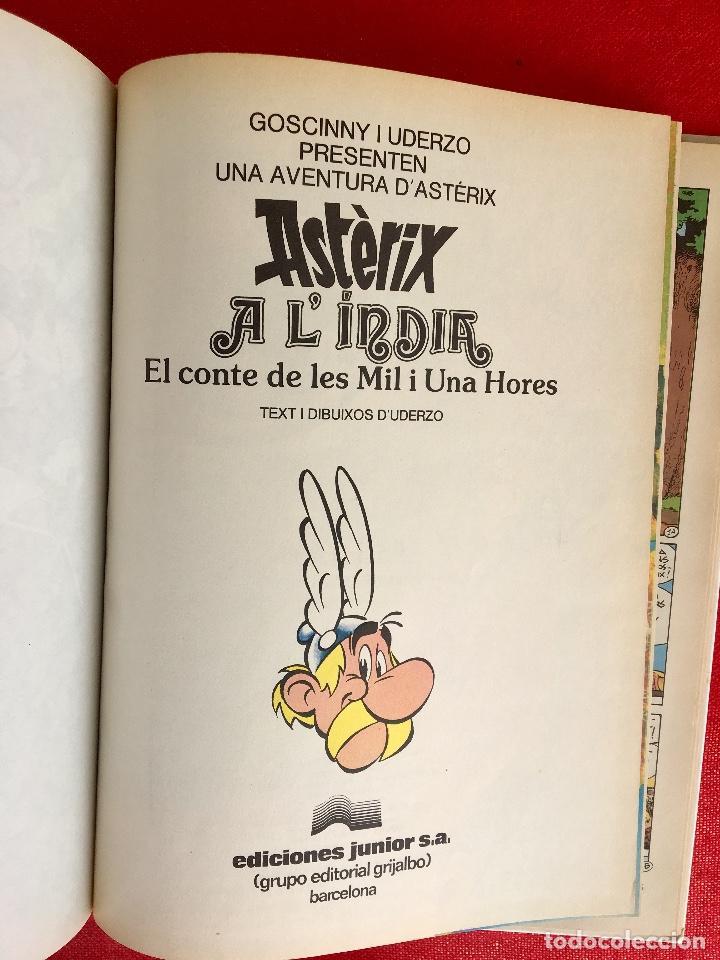 Cómics: Asterix a lindia primera edición 1987 catalán catala obelix buen estado - Foto 7 - 99283591