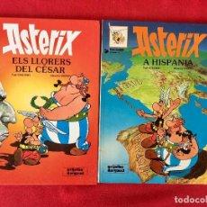 Cómics: ASTERIX A HISPANIA ASTERIX ELS LLORERS DEL CESAR PRIMERA EDICIÓN CATALÁN CATALA 1982/81 TAPA DURA. Lote 99296767